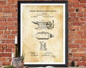 Anvil Patent 1877 - Patent Print, Blacksmith Anvil, Vise Patent, Garage Decor, Workshop Decor, Vintage Tools, Wall Decor