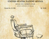 Vintage Barber Chair Patent - Patent Print, Wall Decor, Salon Decor, Barber decor, Barber Wall Art, Antique Barber Chair, 1898 Barber Chair