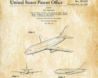 Boeing 737 Patent - Airplane Patent, Airplane Blueprint, Pilot Gift, Aircraft Decor, Airplane Poster, Aviation Art, Boeing Patent, B737
