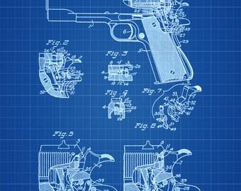 Colt 1911 Green Etsy