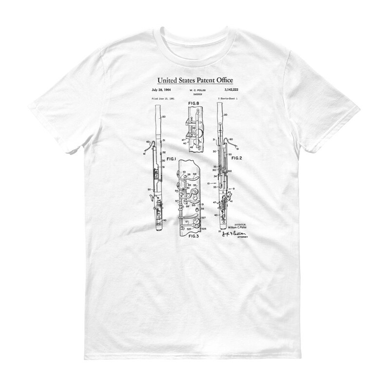 Bassoon MusicianEtsy Shirt Patent T Bassoon Shirt T Bassoon Patent Patent MusicianEtsy nXNO0wP8k