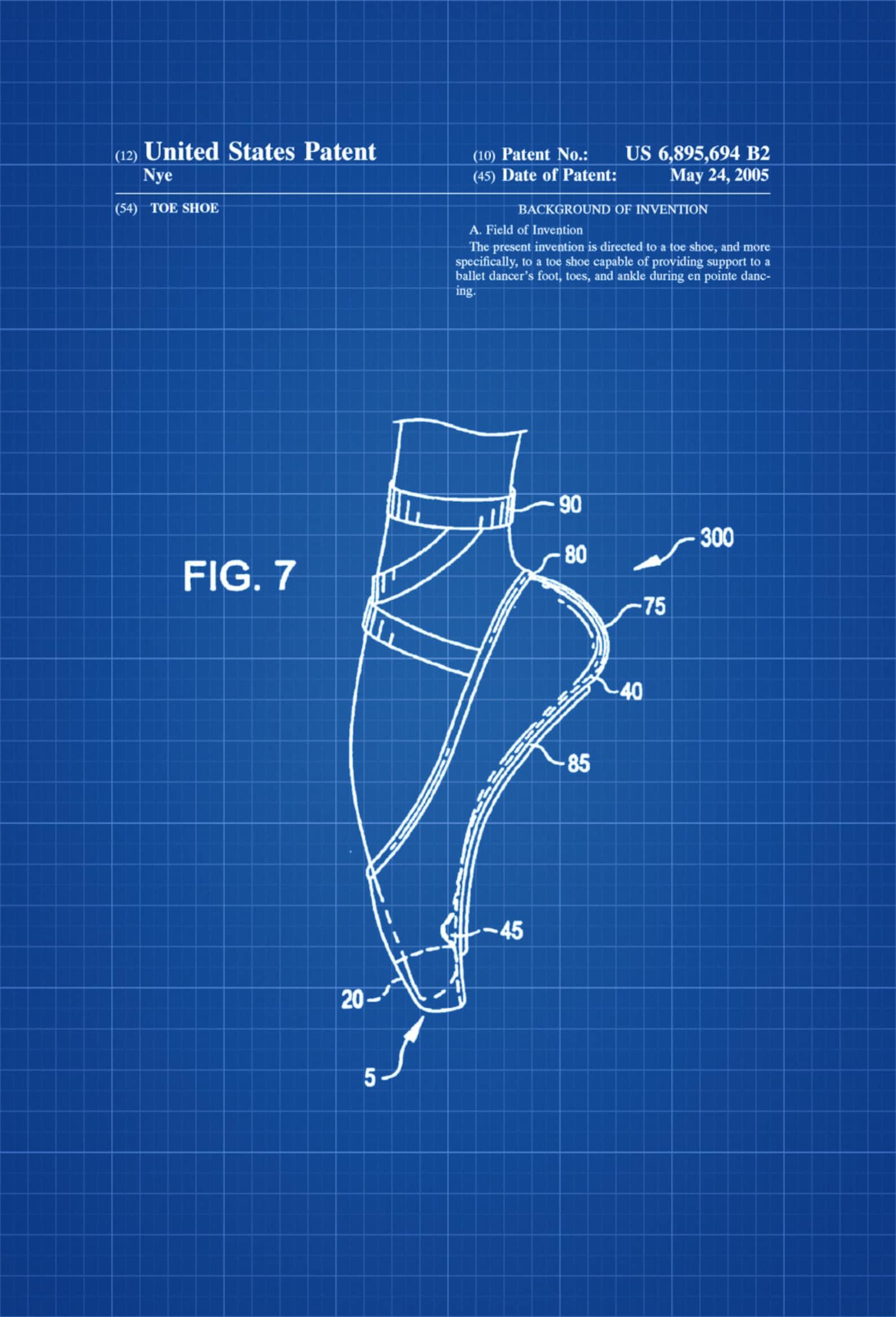 pointe shoe patent - patent prints, ballet shoes, toe shoe, pointe shoe, dance studio, ballerina gift, dance mom, ballet decor