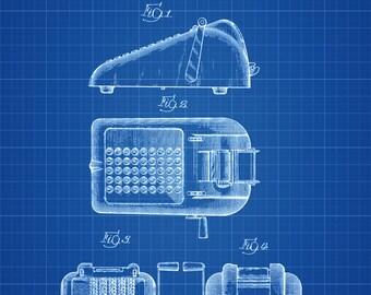 Adding Machine Patent - Decor, Accountant Office Decor, CPA Gift, Accountant Gift, Patent Print, Calculator Patent