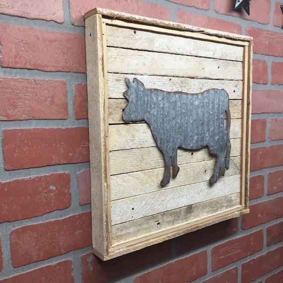 Cow Kitchen Cow Metal Cow Galvanized Cow Cow Decor | Etsy