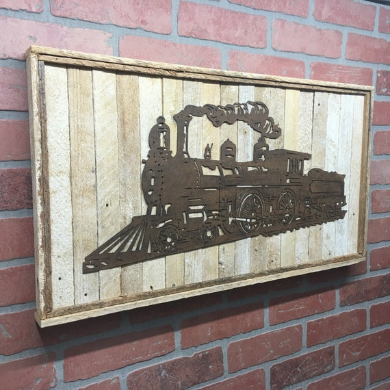 Rustic Metal Train Wall Decor Train Art Locomotion Train | Etsy