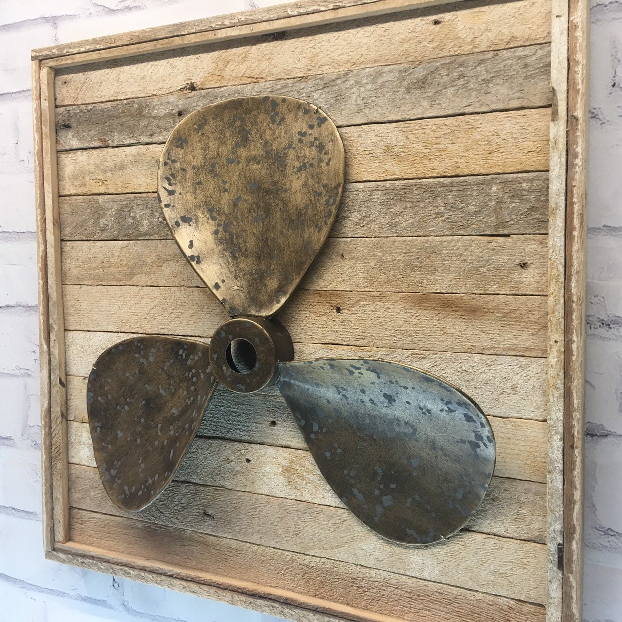 Rustic Metal Propeller Wall Decor Beach Decor Nautical Decor Beach House Rustic Propeller Rustic Beach Decor Wall Art Boating Decor