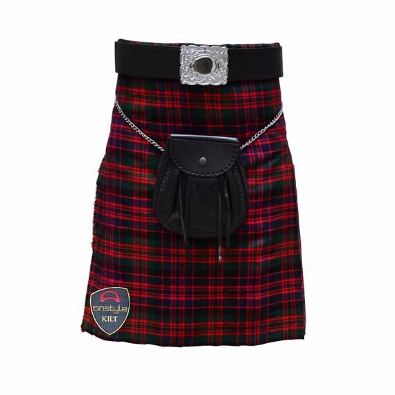 Scottish USA Active Men Utility Sports Traditional Fashion Cotton Blue Kilt