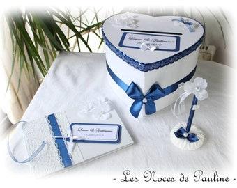 Marineblau Hochzeit Urn Und Weisses Herz Urn Sparschwein Box Etsy