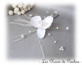 Wedding white Orchid Carla feathers b PIC