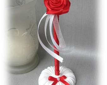 Pink White red wedding pen set for guest book