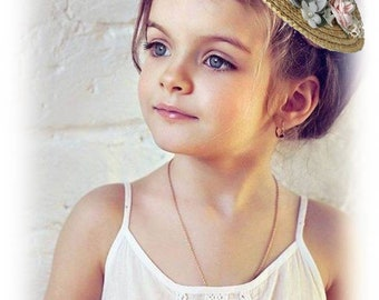 Headband grey, pink and ivory straw hat and flowers TESS bridesmaid Fascinator mini Hat