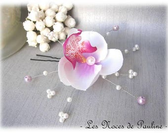 Wedding purple and fuchsia Orchid GM stick