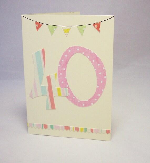 40th Card Birthday Female 40