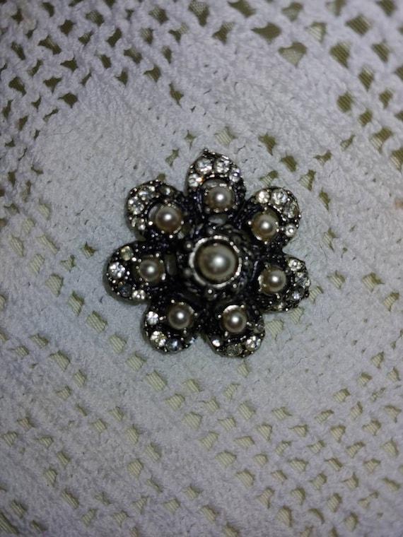 Vintage pin/ brooch, vintage pearl brooch, vintag… - image 4