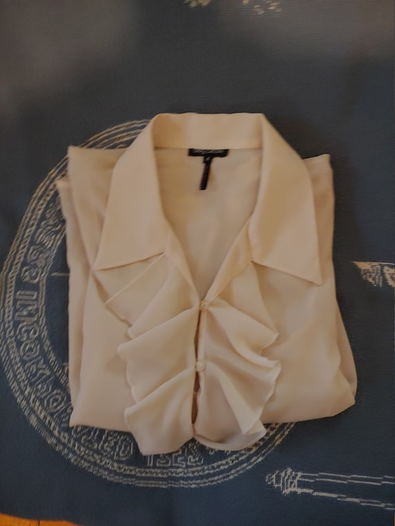 Vintage Oleg cassini blouse, Oleg cassini shirt, v