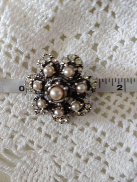 Vintage pin/ brooch, vintage pearl brooch, vintag… - image 8