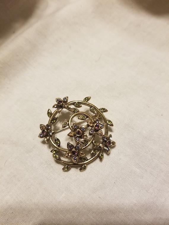 Monet brooch, monet sterling pin, monet and semi p
