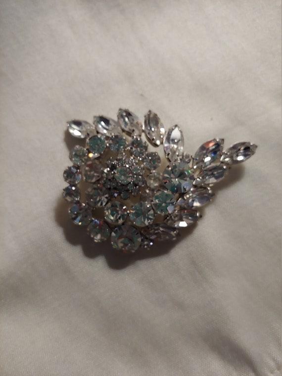 Vintage rhinestone pin brooch, vintage brooch, vi… - image 2