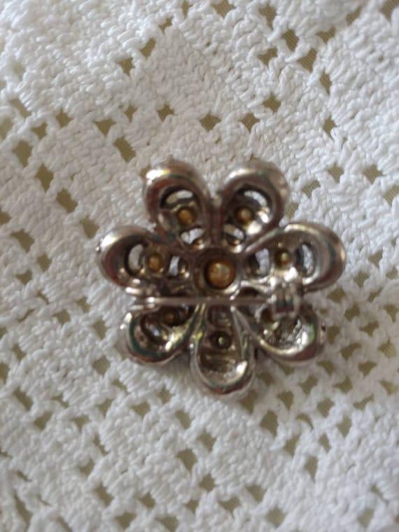 Vintage pin/ brooch, vintage pearl brooch, vintag… - image 5