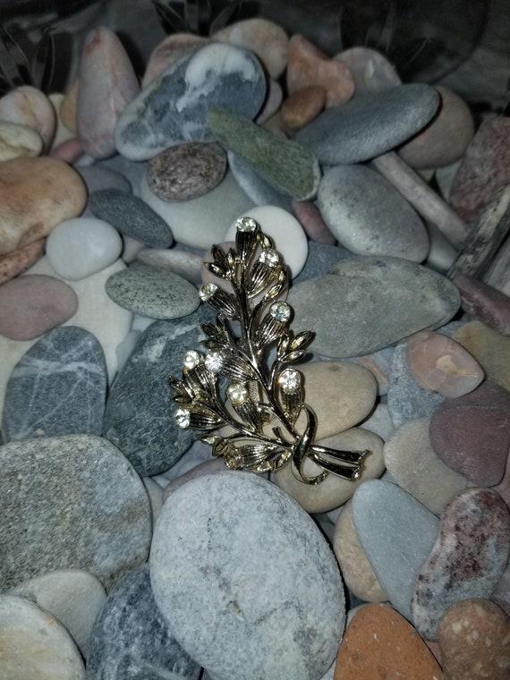 Vintage brooch, vintage pin, crystal brooch, crys… - image 2