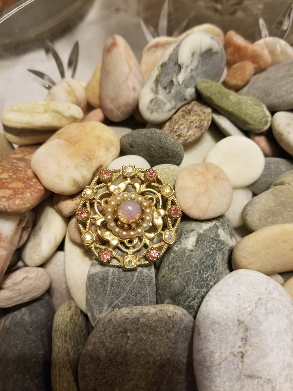 Vintage brooch, vintage pin, vintage opal brooch - image 2