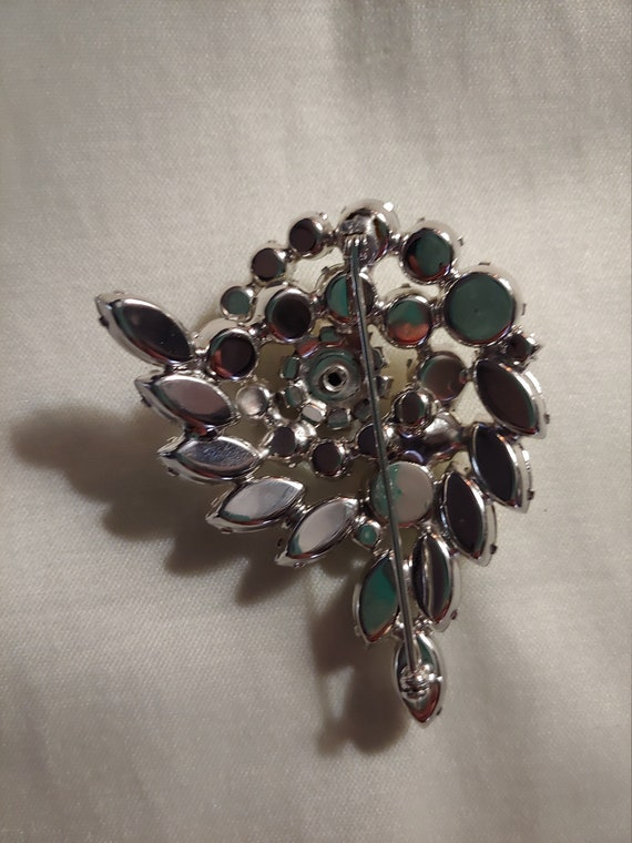 Vintage rhinestone pin brooch, vintage brooch, vi… - image 4