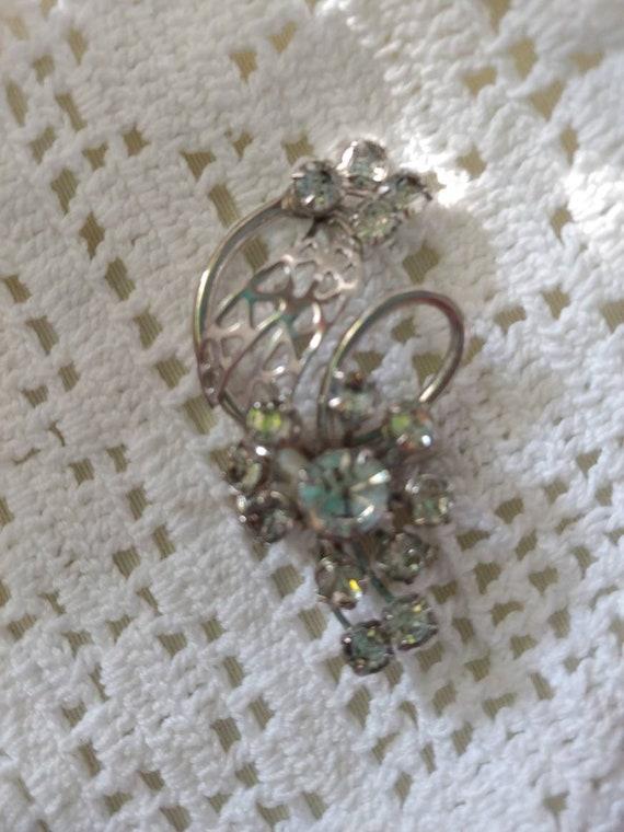 Vintage rhinestone pin/brooch, vintage rhinestone… - image 4