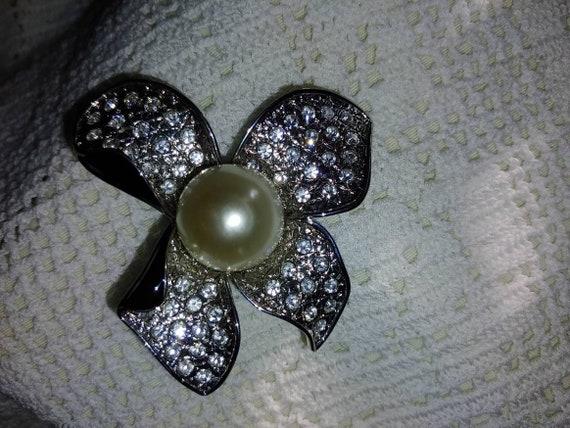 Vintage art deco pearl brooch,vintage art deco pi… - image 7