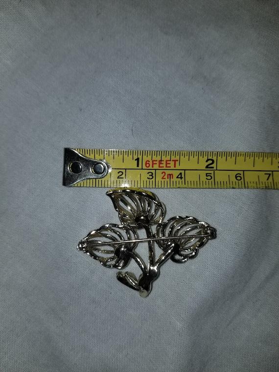 Vintage sterling and pearl brooch, vintage pearl … - image 7
