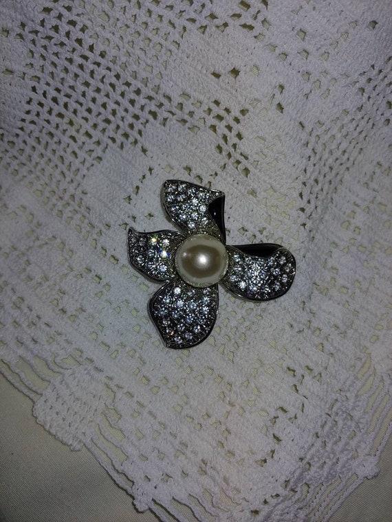 Vintage art deco pearl brooch,vintage art deco pi… - image 3