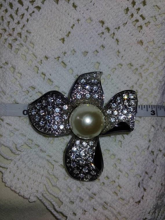 Vintage art deco pearl brooch,vintage art deco pi… - image 9