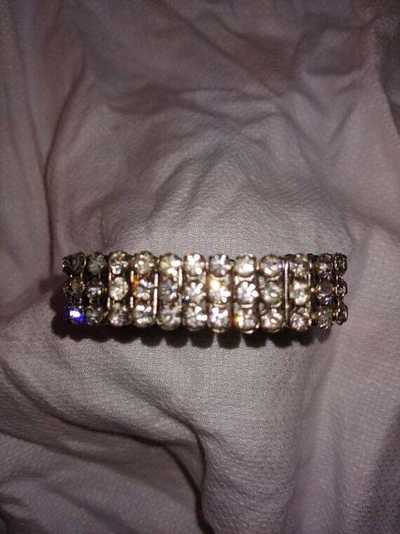 Vintage crystal bracelet, vintage bracelet, vintag