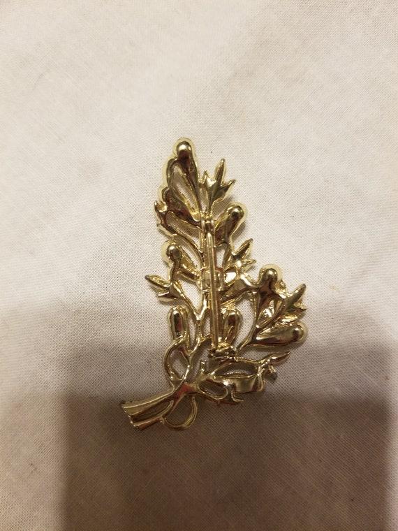 Vintage brooch, vintage pin, crystal brooch, crys… - image 4
