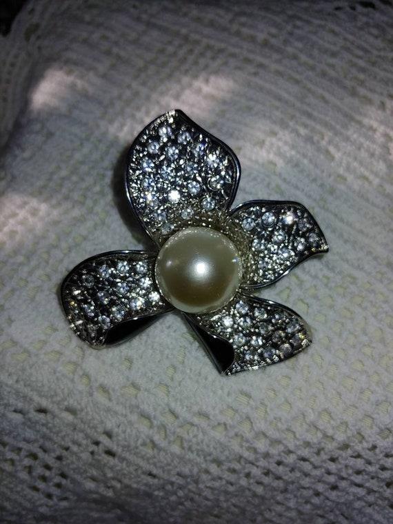 Vintage art deco pearl brooch,vintage art deco pi… - image 4