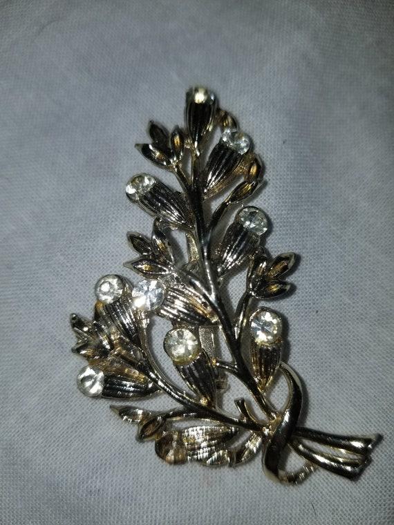 Vintage brooch, vintage pin, crystal brooch, crys… - image 7