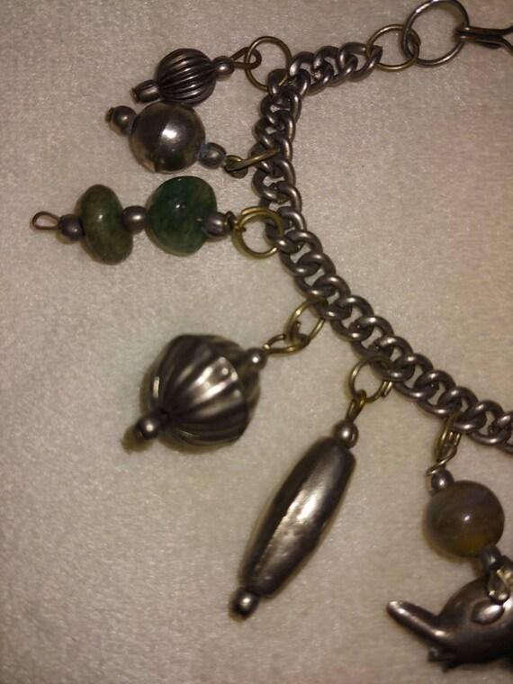 Vintage sterling silver charm bracelet, vintage S… - image 3
