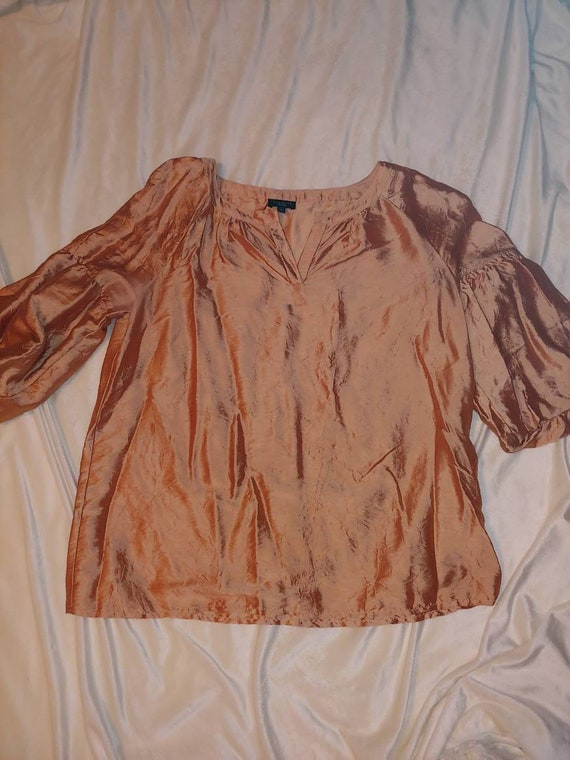 Vintage Talbots silk blouse, vintage blouse, vinta