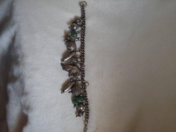 Vintage sterling silver charm bracelet, vintage S… - image 9