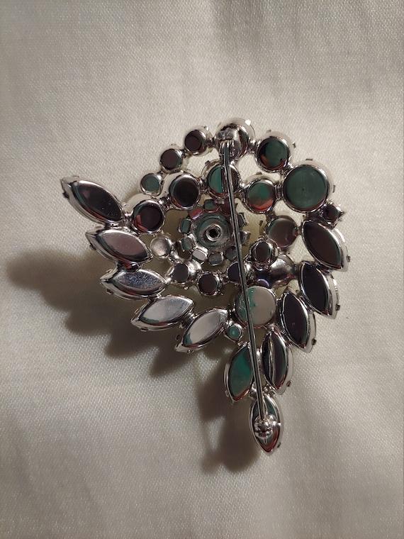 Vintage rhinestone pin brooch, vintage brooch, vi… - image 3
