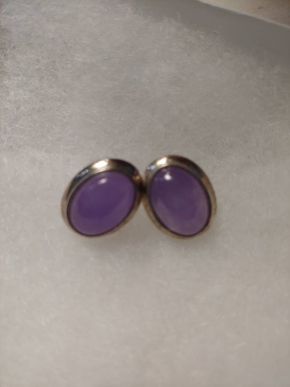 Vintage amethist earrings, vintage earrings, ameth