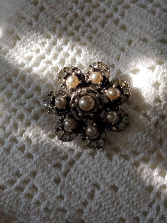 Vintage pin/ brooch, vintage pearl brooch, vintag… - image 7