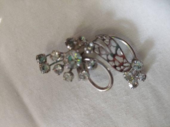 Vintage rhinestone pin/brooch, vintage rhinestone… - image 2