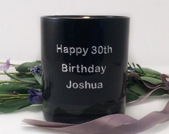 30th Birthday Candle Gift For Him Personalised Scented Decorations Brother Son
