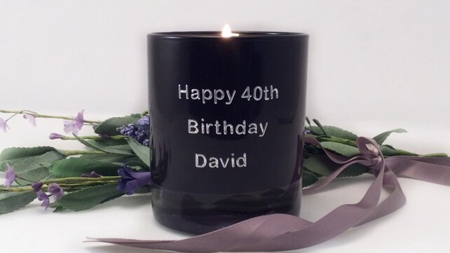 40th Birthday Candle Gift For Him Personalised Scented