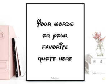 Custom poster, Personalized poster, Custom quote print, Favorite quote, Poster quote, Gift idea, Typography quote, Custom wall art decor