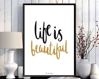 Inspirational poster, Word art, Digital typography, Modern design, Home wall art decor, Inspirational art, Quote print