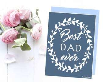 Birthday dad card, Dad card printable, Dad gift idea, Printable card, Best dad, Love you dad, Gift art, Gift idea for him
