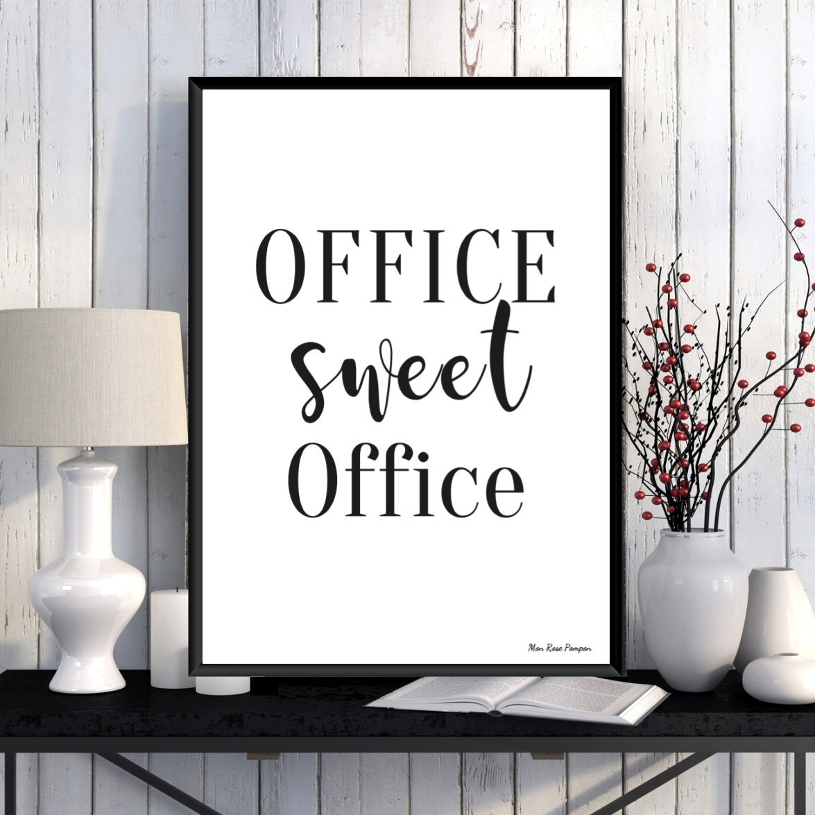 zoom Office wall decor Office quote Office