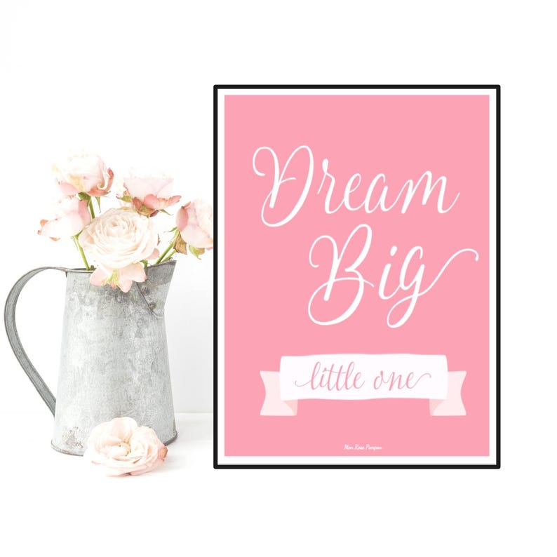 Nursery decor wall art Children poster Nursery quote print image 0