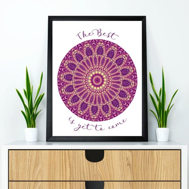 Mandala wall decor Mandala poster Mandala wall art Yoga image 0